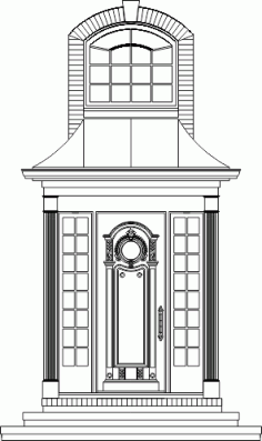 Beautiful Door Cad dwg DWG File