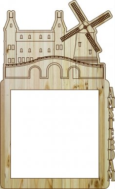 Laser Cut Photo Frame Amsterdam DXF File