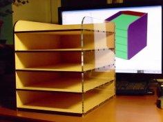 Parametric Desktop Filing Rack DXF File