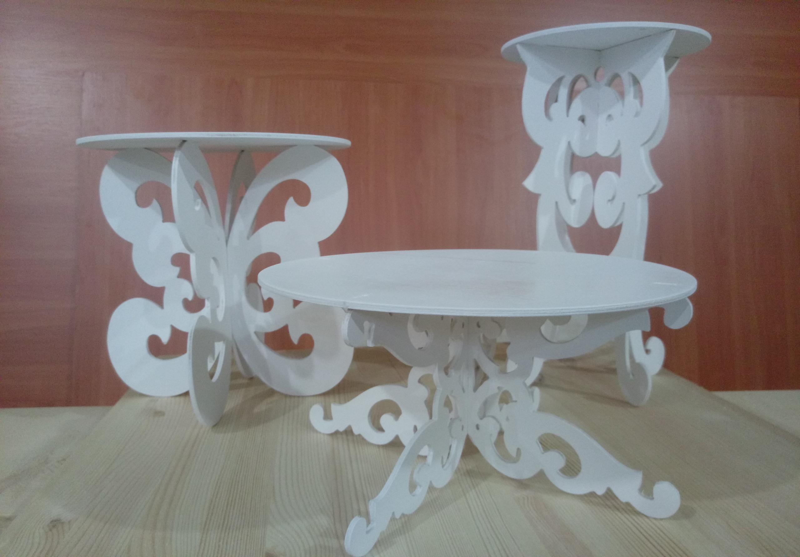 Decorative Tables 3D Puzzle Free Vector