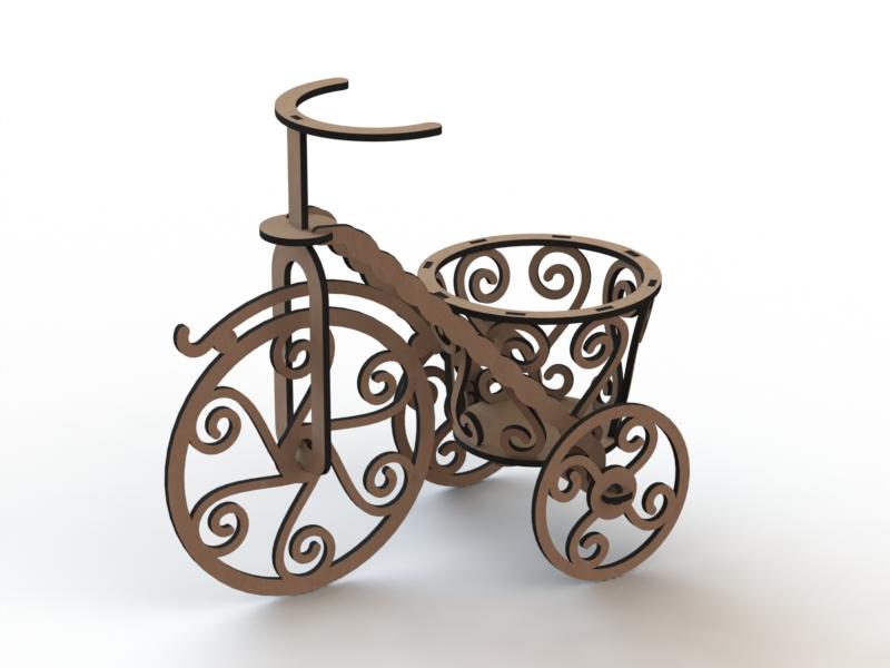 Bicicleta Pequena 3mm DXF File