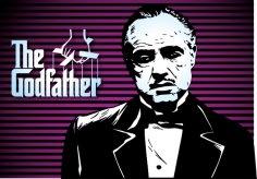 Marlon Brando Godfather Poster Free Vector