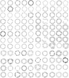 Hand Drawn Wreath Frame Vectors Free Vector