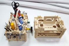 Amazing Tool Organizer Lasercut Free Vector