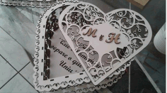 Laser Cut Heart Box CDR File