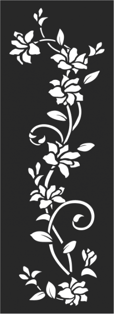 Flowers Wall Decal White Vines Free Vector