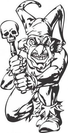Bad Guy, Evil Clown vector art Free Vector