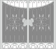 Forged Iron Gate Vector Art Free Vector