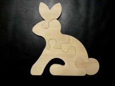 Animal Puzzle Laser Cut Free Vector