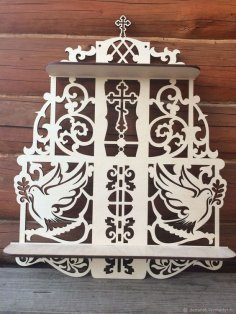 Ornamental Shelf Laser Cut CNC Plans Free Vector