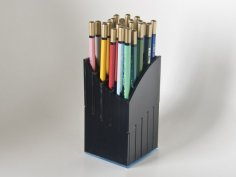 Laser Cut Pencil Holder DXF File
