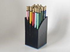 Laser Cut Pencil Holder DXF File