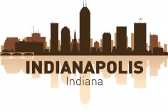 Indianapolis Skyline Free Vector
