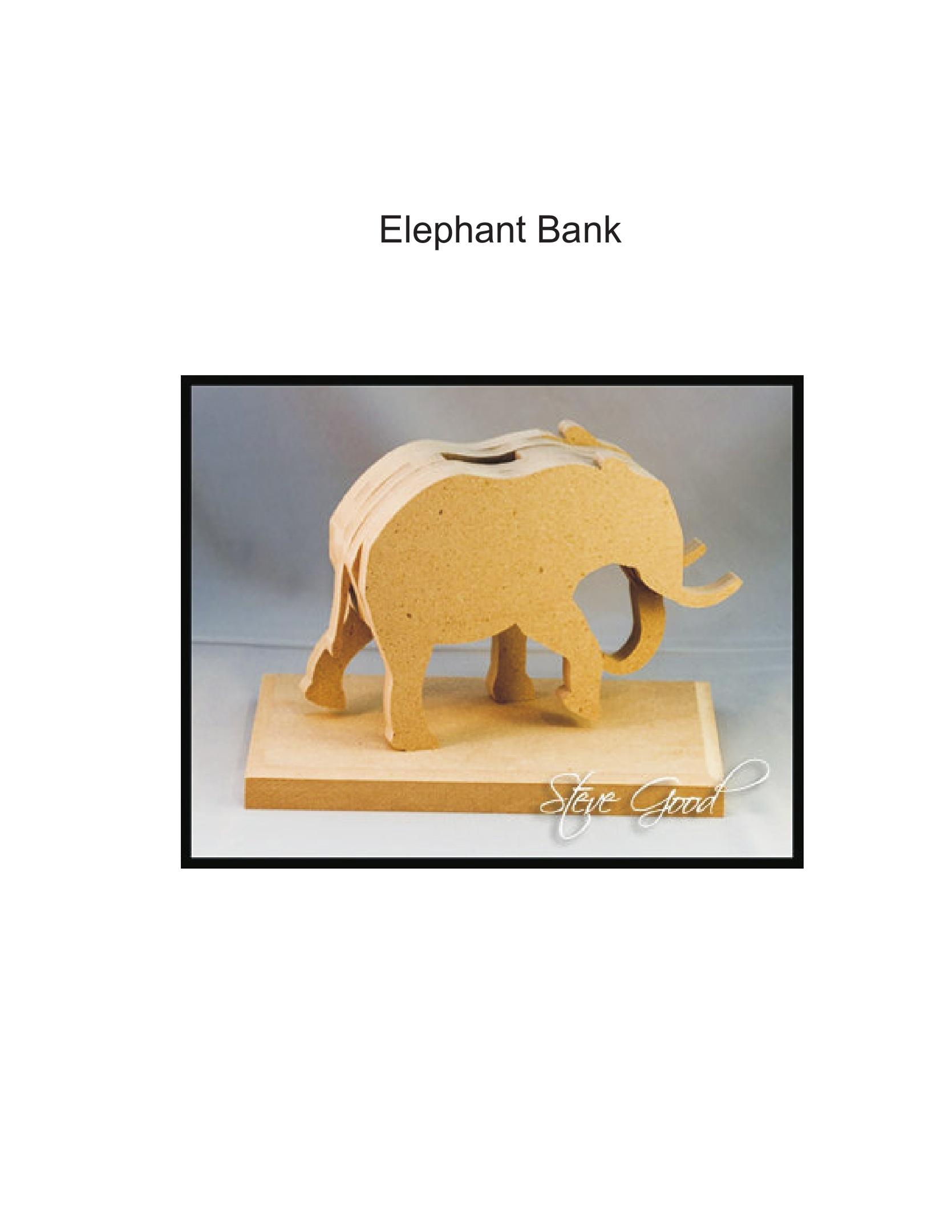 Laser Cutting Elephant Bank PDF File