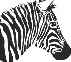 Zebra Stencil Free Vector