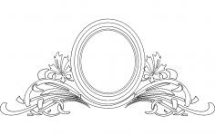 Mirror Frame Floral dxf File