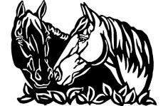 Horses Art dxf File
