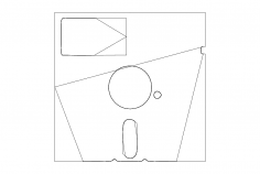Floppy Coaster dxf File