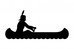 Indian Canoe dxf File