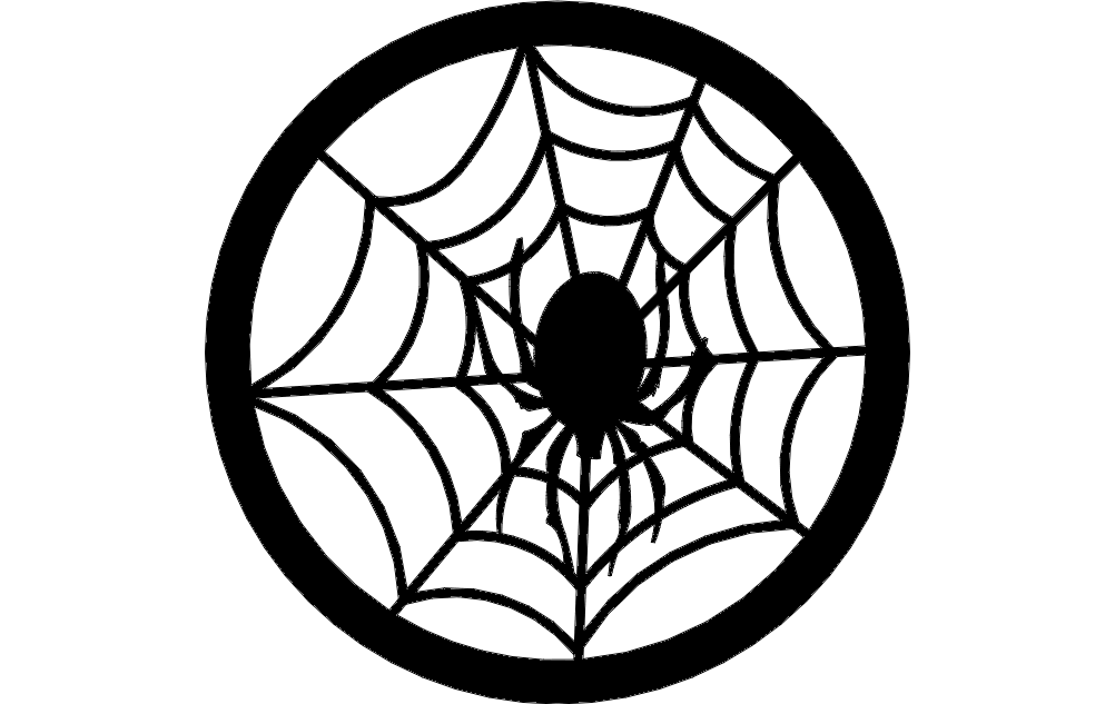 Spider web dxf File