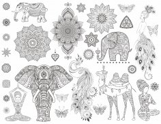 Ornamental Set Free Vector