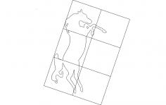 Horse Inside Frame dxf File