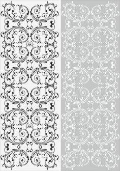 Swirl Floral Sandblast Pattern Free Vector
