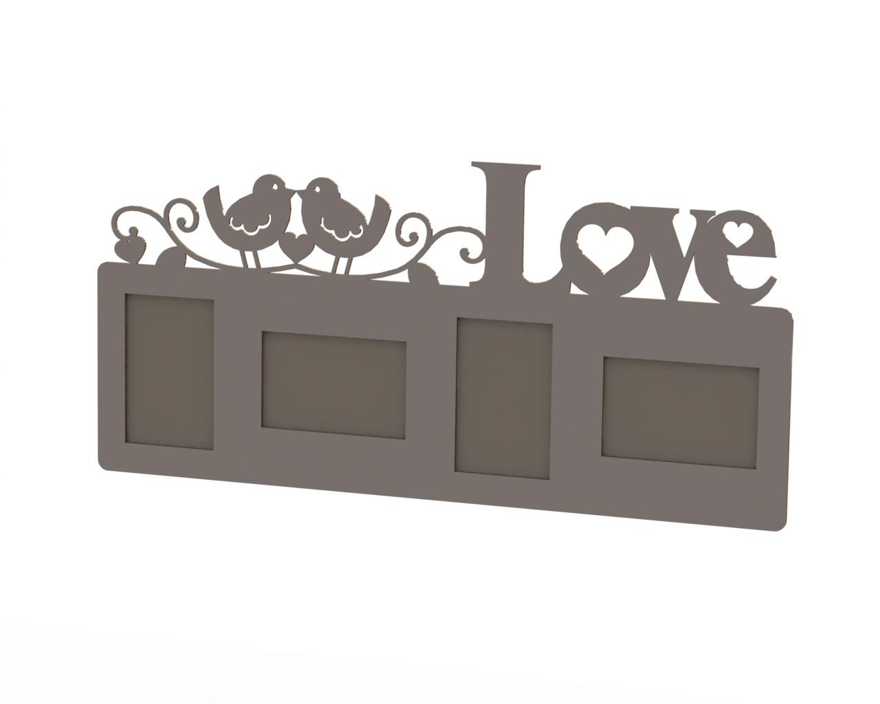 Love Frame Laser Cut DXF File