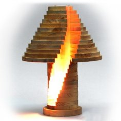 Stacked Lamp CNC Plans PDF File
