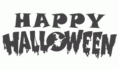 Happy Halloweer DXF File