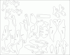 Frog Puzzle 3mm DXF File
