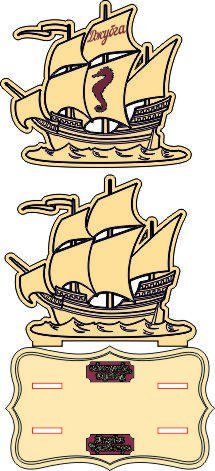 Sailing Pirate Ship Laser Cut Free Vector