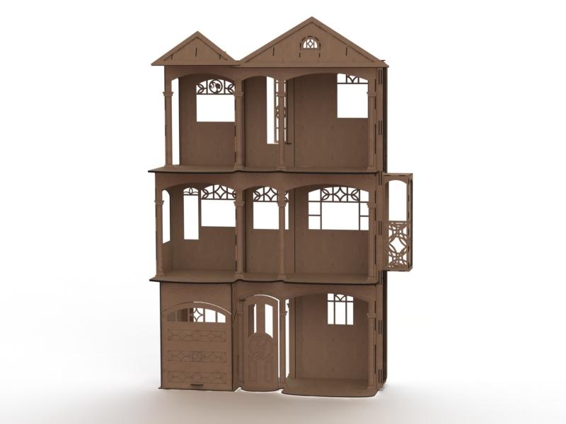 Barbie's house Lasercut Free Vector
