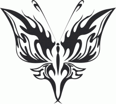 Tribal Butterfly Vector Art 21 DXF File