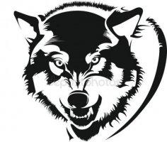 Mens wolf shirt Free Vector