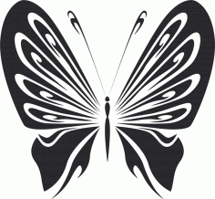 Vector Art Doodle butterfly DXF File