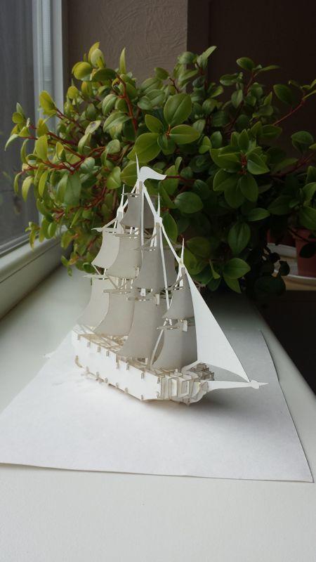 Sailing Ship 3D Puzzle Free Vector