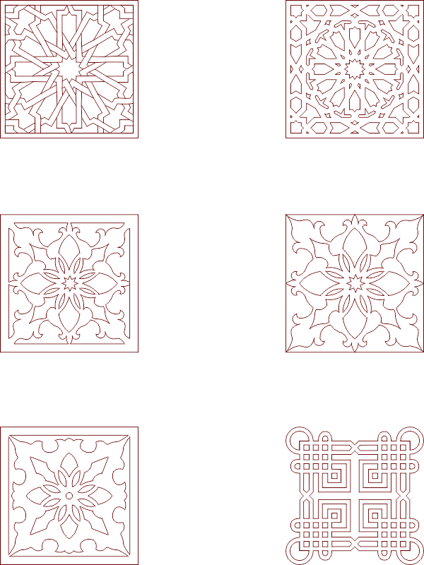 Moroccan Pattern Vector Art DXF File