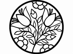 Flower New dxf File
