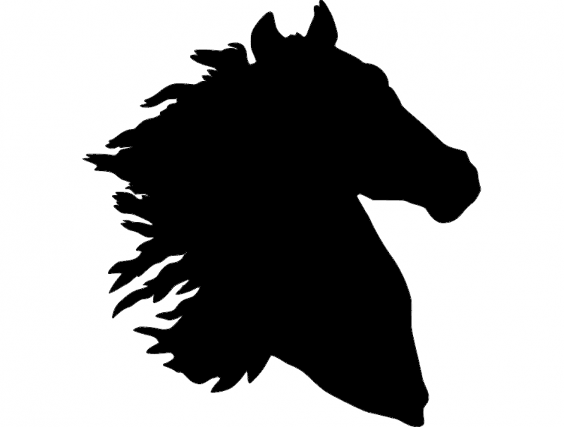 Horse Head Silhouette Dxf File Free Download 3axis Co