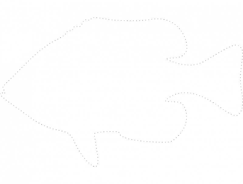 Fish Dotted Design dxf File