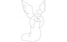Kneeling Angel dxf File