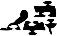 Turtle Jigsaw Puzzle dxf File
