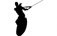 Wake Surfing Silhouette dxf File
