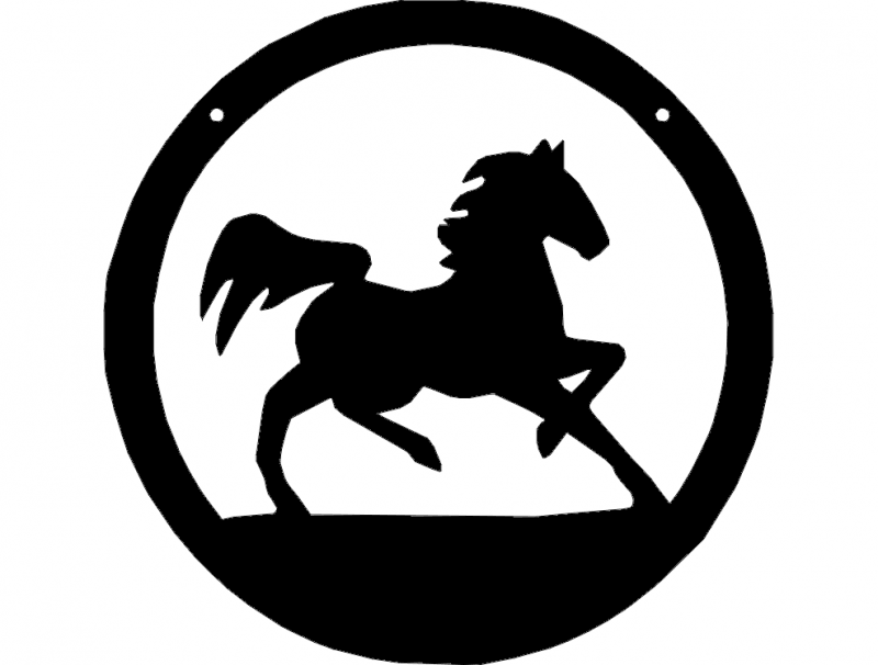 Horse 1 dxf File