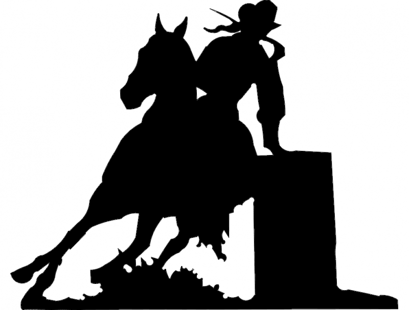 Barrel Racer Dxf File Free Download 3axis Co