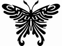 Tribal Butterfly dxf File