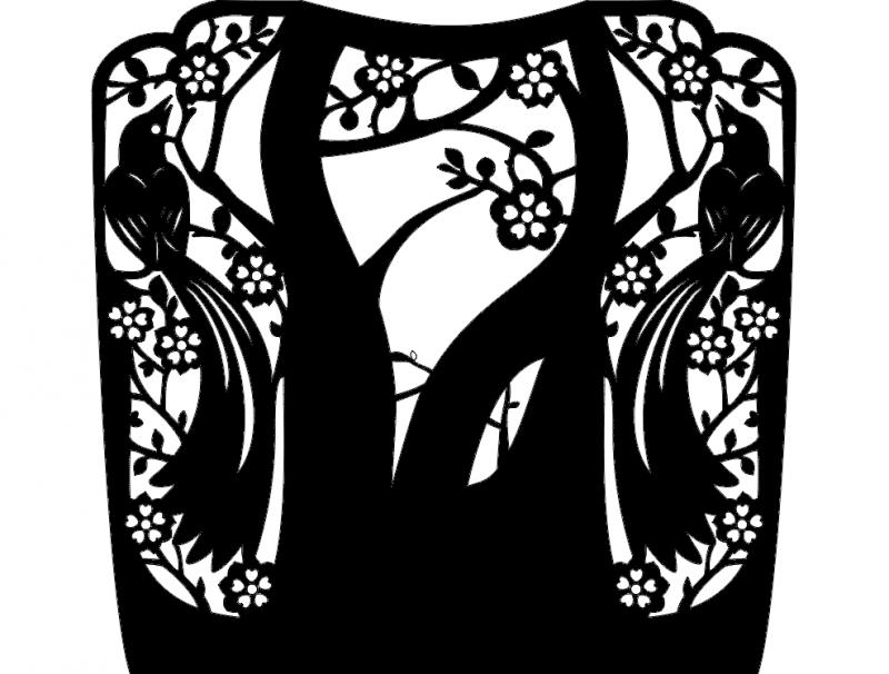 Birds Ornament dxf File