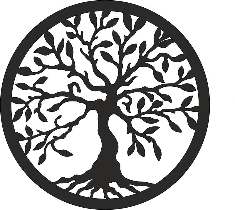 Tree of Life laser cut vector EPS File