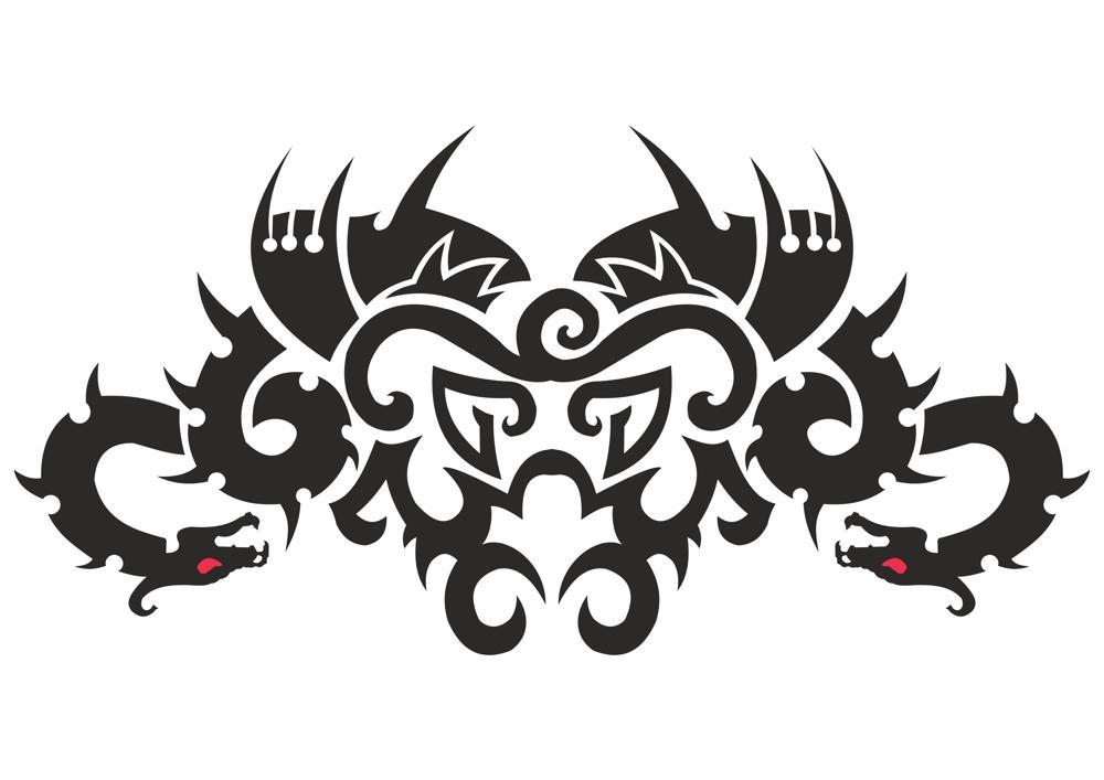 Car Hood Decal Dragon Animal Murals Predator Tribal Tattoo Vector Free Vector